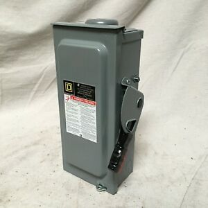 Square D Hu361nrb Safety Switch Nonfusible Heavy 600v Ac Voltage 3 Phase 20