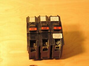 Federal Pacific Circuit Breakers 15 20 30 Amp Wide