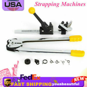 Steel Strapping Banding Machine Tensioner Crimper Set Sealer Packaging Tool Hot