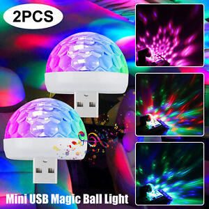 2pcs Usb Car Atmosphere Sky Lamp Interior Ambient Star Light Led Projector Tool