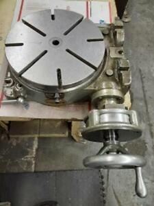 10 Moore Tool Precision Horizontal Vertical Rotary Table In Nice Condition