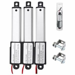 Mini Electric Linear Actuator Stroke 4 Force 1 5 42 3lbs 12v High speed 6 s