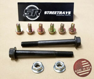 sr Motor Mount Bolt Hardware Chevy V6 V8 Engine Mount to block Kit Sbc 350