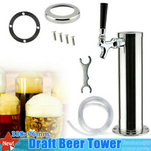 Stainless Steel Single Tap Draft Beer Tower Chrome Faucet For Home bar Silver