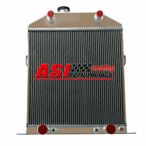 4 Row Aluminum Radiator For 1942 1948 Ford Deluxe mercury Pickup Flathead Engine