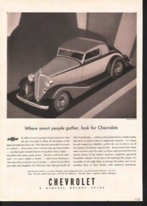 1933 Chevy Deco Auto Style Detroit Muscle Motor Ad13282