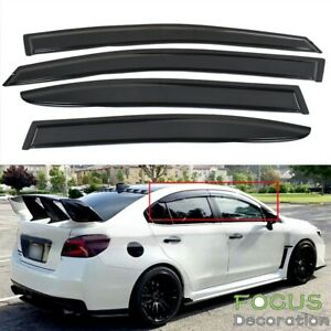 For 15 18 Subaru Wrx Sti 12 15 Impreza Slim Style Window Visor Rain Sun Guard