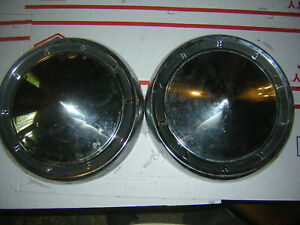 1960 1961 Ford Galaxie 500 Fairlane Dog Dish Hubcaps