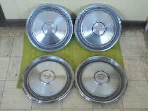 1970 Cadillac Hub Caps 15 Set Of 4 Wheel Cover 70 Caddy Hubcaps