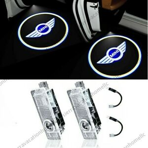 2pcs For Mini Cooper Door Led Light Logo Projector Car Welcome Ghost Shadow