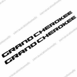 Gloss Black Grand Cherokee 3d Letters Emblems Nameplate Jeep Badge 2pcs Kits Oem