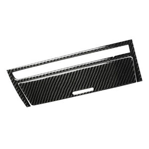 Real Carbon Fiber Cigarette Lighter Panel Cover Suit For Bmw E46 3 Series