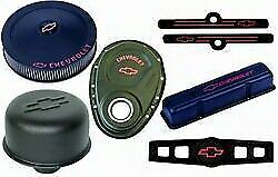 Proform Sbc Fits Chevy Logo Black Crinkle Engine Dress Up Kit P N 141 758