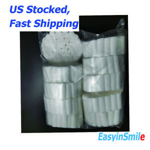 500pcs Dental Cotton Rolls Disposable Clinic Use For Kids 0 8 2 5cm Easyinsmile
