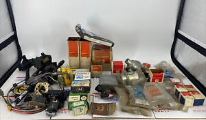 Assorted Vintage Auto Parts Lot Over 50 Motorola Delco Remy Autolite Buss