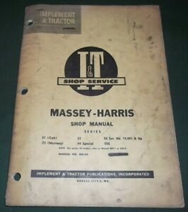 Massey Harris 21 Colt 33 23 Mustang 55 44 555 Tractor Service Repair Manual Mh5a