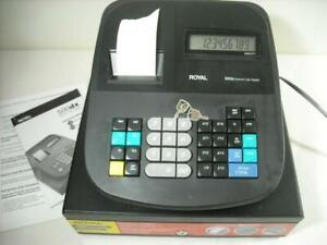 Royal 500dx Electronic Cash Register Good Working Condition W Manual Keys