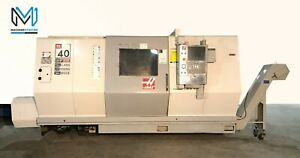 Haas Sl 40lm Cnc Turn Mill Center Long Bed Lathe 15 Chuck Tailstock Mori St