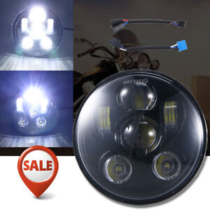 5 3 4 5 75 Led Headlight Projector High Low For Harley Sportster Xl 883 Dyna