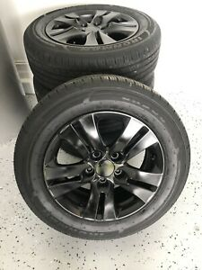 2008 2012 Honda Accord Black Alloy Wheels And Tires With New Chrome Lug Nuts