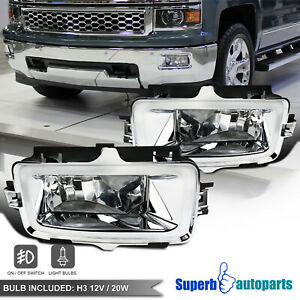 For 2014 2015 Chevy Silverado 1500 Pickup Fog Lights Driving Bumper Lamps switch