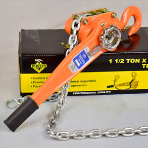 1 5 Ton Chain Puller Block Fall Chain Hoist Hand Tools Lifting Chain With Hook