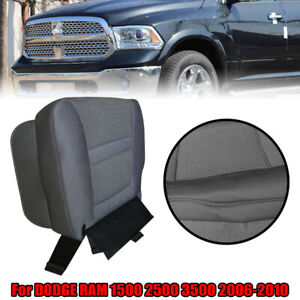 For Dodge Ram 1500 2500 3500 2006 2010 Driver Bottom Gray Cloth Seat Cover Ct