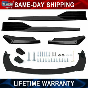 Carbon Car Fiber Look Front Bumper Spoiler Body Kit Side Skirt rear Lip