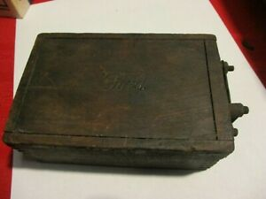 Vintage Ford Ignition Coil Wood Box