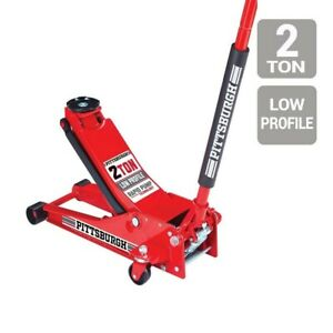 2 Ton Car Low Profile Floor Jack Rapid Pump Garage Shop Auto Lifting Auto