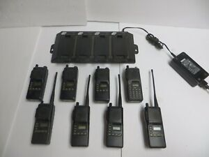 Lot Of 8 Icom Ic f4tr 1 Uhf Two Way Radios With Battery Charger