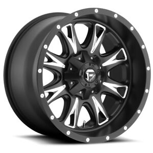 4 Fuel D513 Throttle 20x10 6x135 6x5 5 12mm Black Milled Wheels Rims 20 Inch