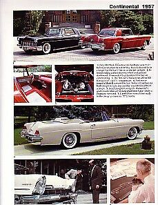1957 Continental Mark Ii Article Lincoln Continental 1956 1957