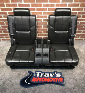 07 14 Chevy Tahoe suburban Gmc Yukon yukon Xl 3rd Row 50 50 Bench Seats Ebony