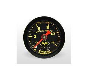 Marshall Gauge 0 15 Psi Fuel Pressure Gauge Midnight Black 1 5 Liquid Filled