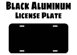 Blank Aluminum License Plate Gloss Black With Protective Sheet