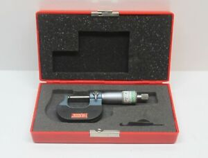 Spi Ball Anvil Micrometer 0 1 0 0001 Ratchet Thimble Case Included