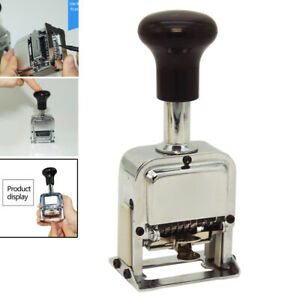 1pc 6 Position Automatic Numbering Machine Chapter Marking Machine Digital Stamp