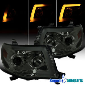 For 2005 2011 Tacoma Led Sequential Switchback Signal Smoke Projector Headlights