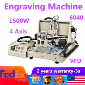 Usb 4axis Vfd Cnc 6040z Router Engraver Milling Carving Machine 1 5kw controller