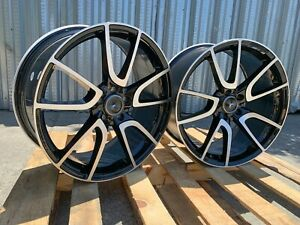 20x8 5 9 5 Staggered 5x112 Black Machined Wheels Fit Mercedes C63 E63 S63 Amg