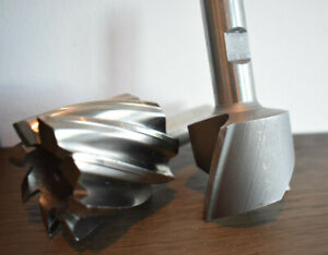 Two End Mills 3 4 Shank 2 Hss Single End