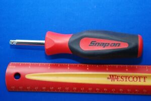New Snap on Tools 1 4 Drive 6 13 16 Instinct Soft Grip Standard Shank Driver