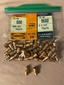 Copper Reducing Couplings 1 4 X 1 8 Plumbing Or 3 8 X 1 4 Refrigeration