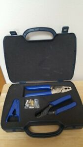 Coax Cable Crimper Kit Crimping Tool Set Unbranded With Case