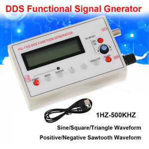 1hz 500khz Fg 100 Dds Signal Generator Counter Sawtooth Sine Triangle Waveform