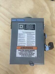 Square D General Duty Safety Switch 60 Amp 240 Vac