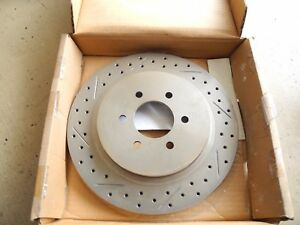 Rotora Rear Drilled Slotted Brake Rotor Fits 92 02 Dodge Viper Rh Stoptech Ebc