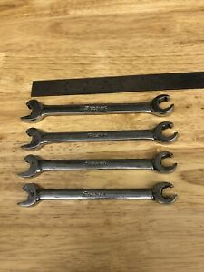 Snap On 5pc Metric Speed Flare Nut Combination Line Wrench Set 12mm 15mm