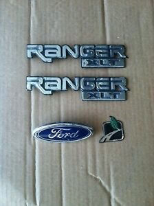 Ford Ranger Oem Fender Emblems Flex Fuel Green Leaf And Ford Nameplate